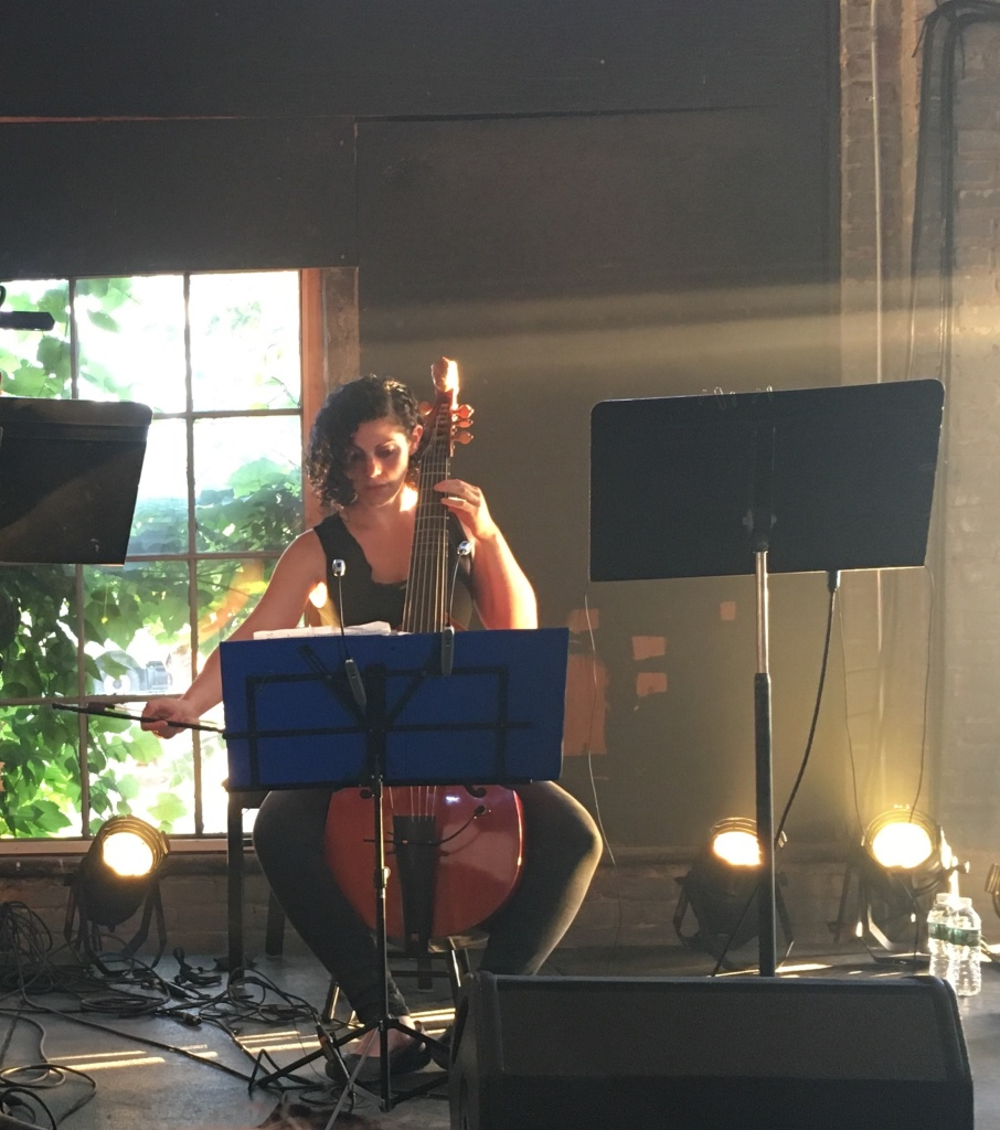 Zoe Weiss and viol playing Tessellatum
